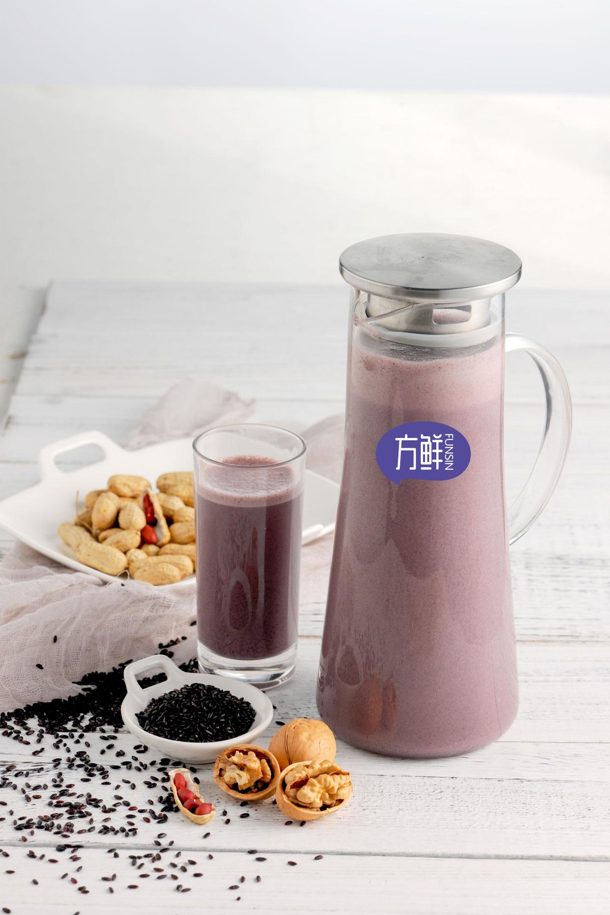 核桃黑米汁